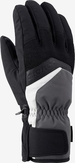 ZIENER Handschuhe 'Gabino' in dunkelgrau / schwarz / weiß, Produktansicht