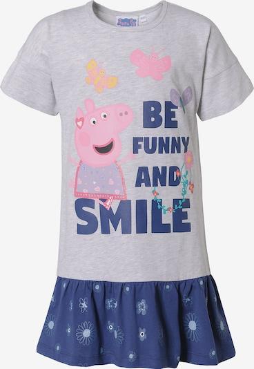 Peppa Pig Jerseykleid in blau / grau / rosa, Produktansicht
