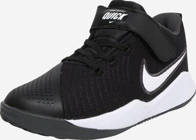 NIKE Schuhe 'Team Hustle Quick 2' in schwarz / weiß, Produktansicht