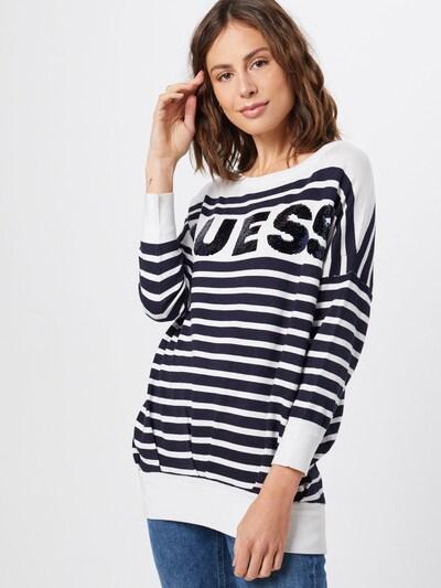 Megztinis 'MEGAN' iš GUESS , spalva - tamsiai mėlyna / balta, Modelio vaizdas