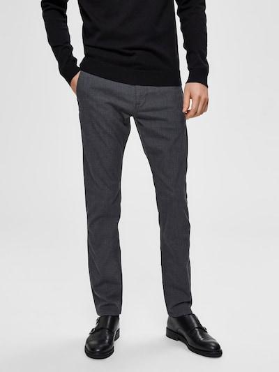 SELECTED HOMME Pantalon chino en gris chiné, Vue avec modèle