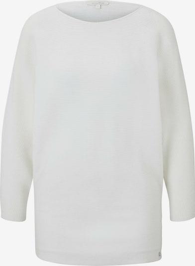 TOM TAILOR DENIM Strickpullover in weiß, Produktansicht