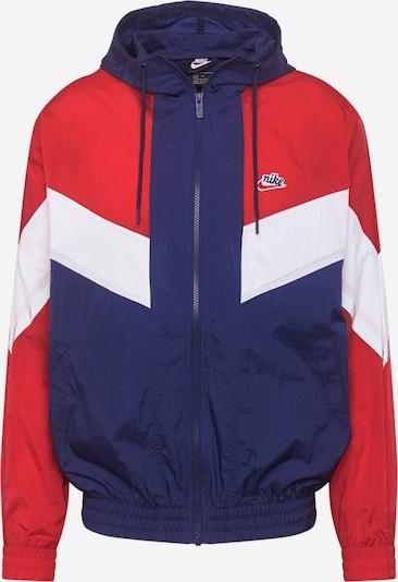 Nike Sportswear Prijelazna jakna u morsko plava / crvena / bijela, Pregled proizvoda