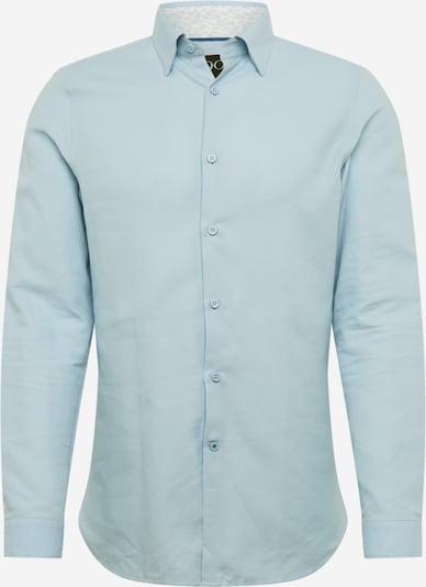 BURTON MENSWEAR LONDON Overhemd '1904 Blue Dobby' in de kleur Lichtblauw, Productweergave