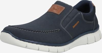 Papuci de casă RIEKER pe navy / maro, Vizualizare produs