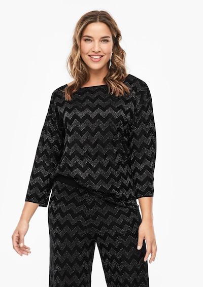 TRIANGLE Pullover in schwarz / silber, Modelansicht