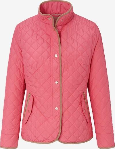 Basler Steppjacke in braun / pink: Frontalansicht
