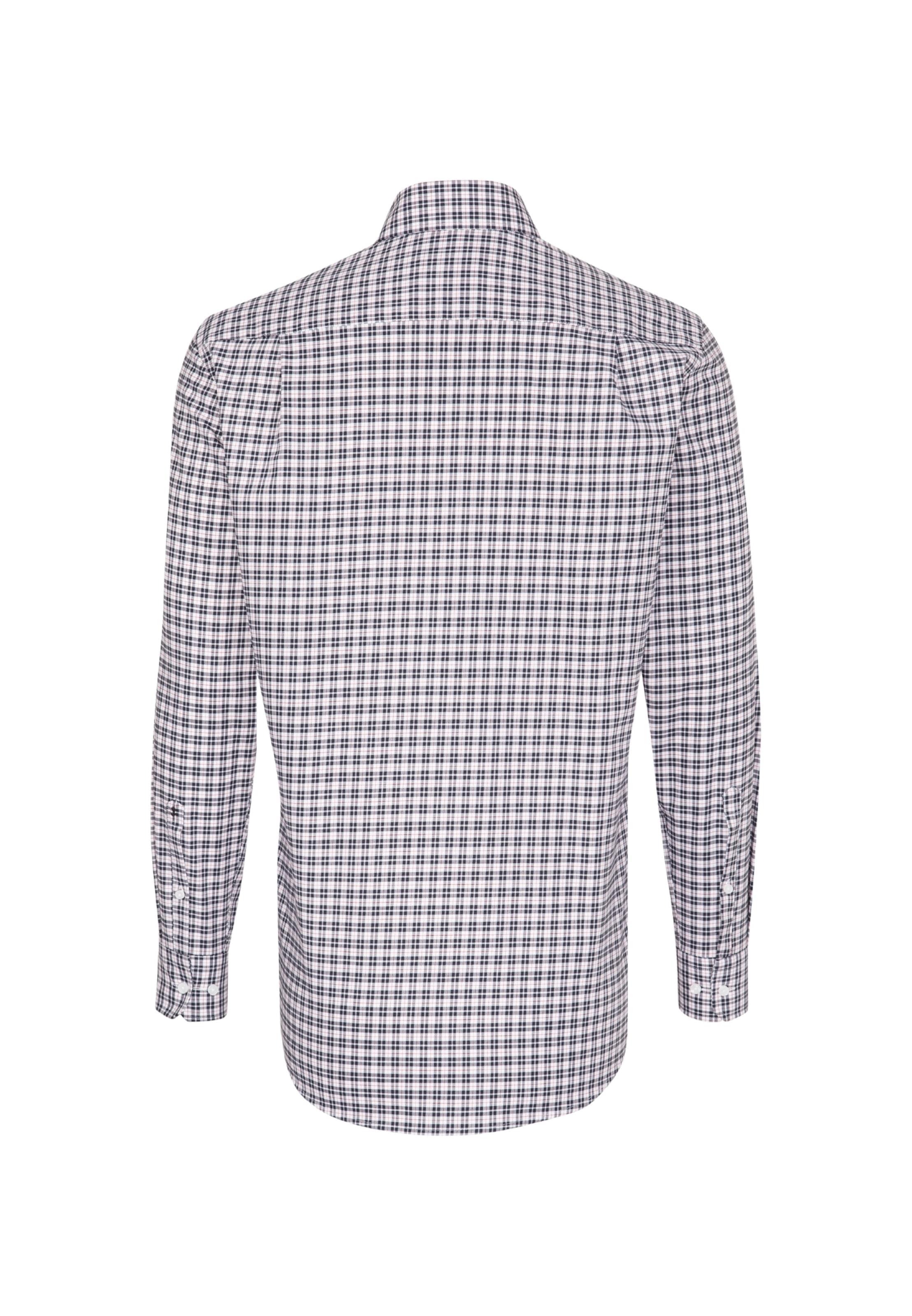 Weiß 'modern' In Seidensticker Hemd NachtblauRot 0Nwvmn8O
