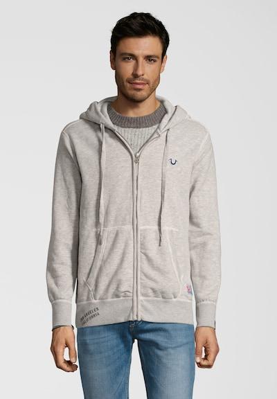 True Religion Kapuzensweatshirt HOODY EMBROIDERY in grau: Frontalansicht