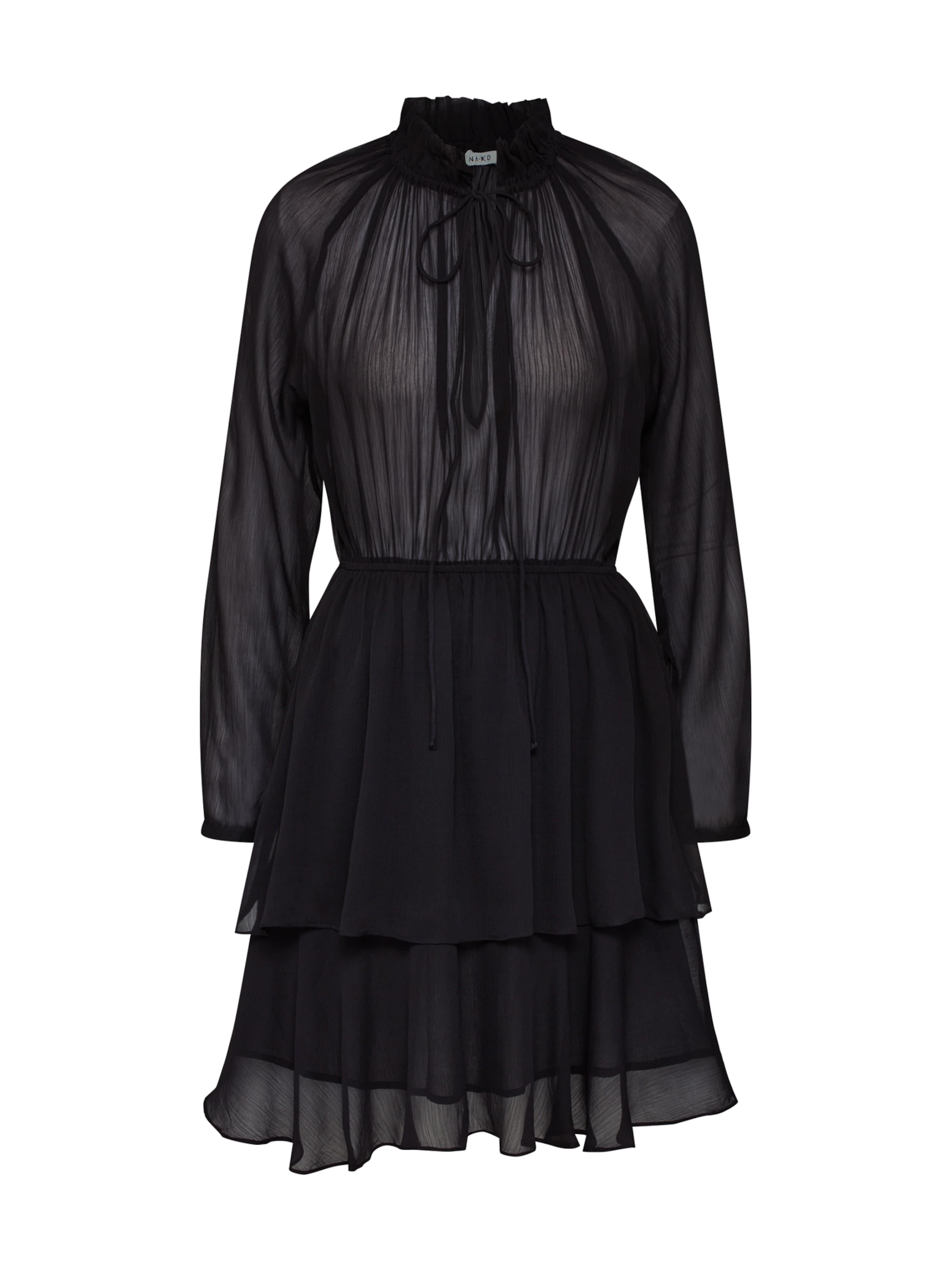 'high Dress' Noir Robe En kd Na De Frill Layer Cocktail Neck xrCBQdWEoe
