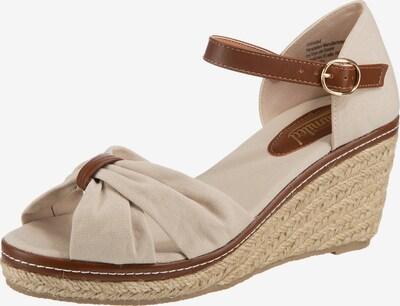 UNLIMITED Sandale in kitt / dunkelbraun, Produktansicht