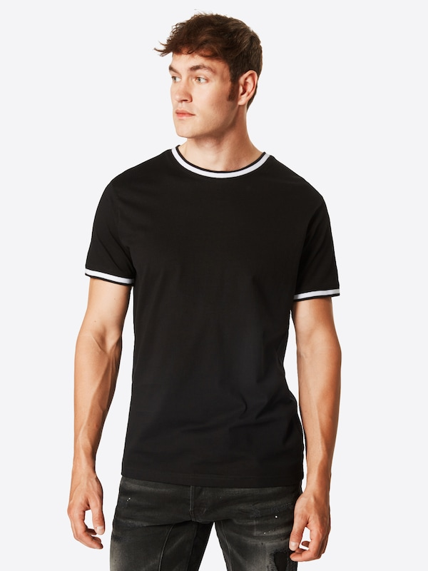En Tee' 'collage NoirBlanc shirt Urban Classics T Pocket m0N8nw