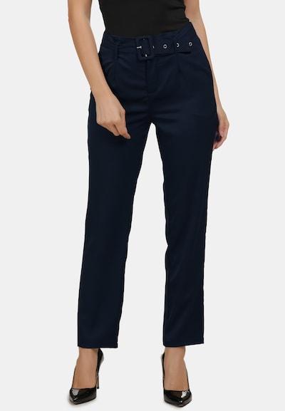 Usha Pantalon chino en bleu nuit, Vue avec modèle