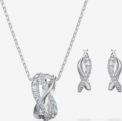 Swarovski Sieraden set 'Twist' in de kleur Zilver, Productweergave
