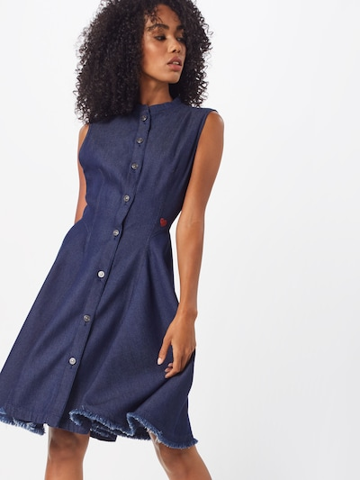 G-Star RAW Kleid 'Bristum' in blau, Modelansicht