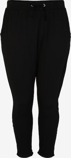 Pantaloni 'Terry Turn Up' Urban Classics Curvy pe negru, Vizualizare produs
