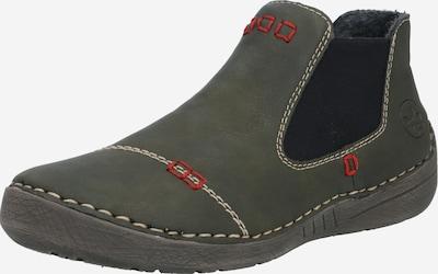 Chelsea batai iš RIEKER , spalva - alyvuogių spalva / juoda: Vaizdas iš priekio