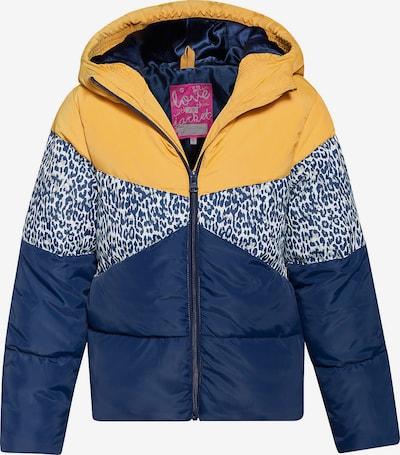 WE Fashion Winterjacke in marine / limone / weiß: Frontalansicht