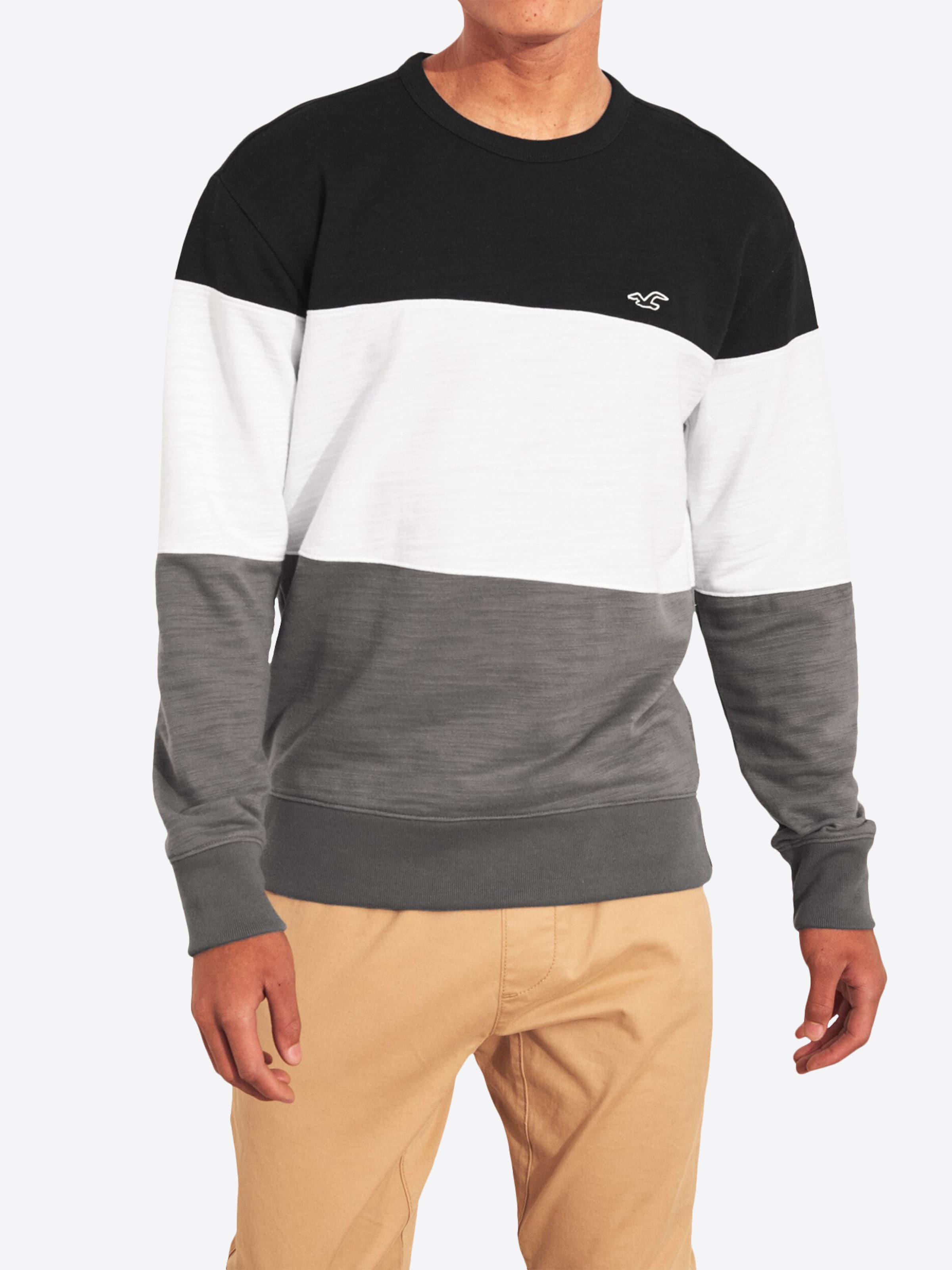 In Sweatshirt Sweatshirt Sweatshirt Hollister DunkelgrauSchwarz In DunkelgrauSchwarz Hollister Hollister 9E2WDYHI