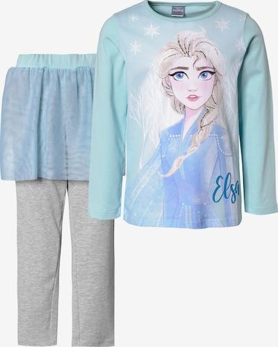 DISNEY Schlafanzug mit Tüllrock 'Die Eiskönigin' in azur / graumeliert / mischfarben, Produktansicht