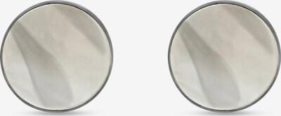 FAVS Ohrstecker in silber / perlweiß, Produktansicht