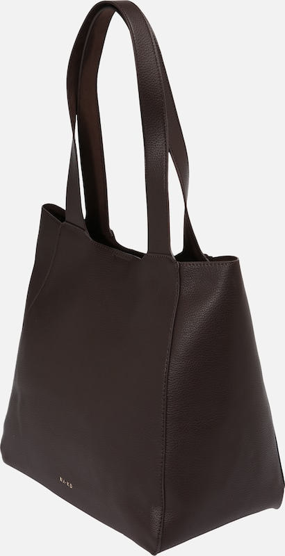 NA-KD Shopper 'boxy tote' in de kleur Donkerbruin, Productweergave