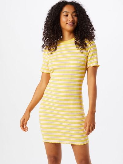 Tommy Jeans Kleid in gelb / lachs / weiß, Modelansicht