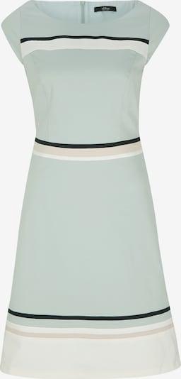 s.Oliver BLACK LABEL Kleid in hellgrün / schwarz / weiß, Produktansicht