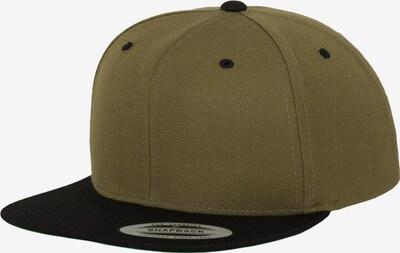 Flexfit Cap in oliv / schwarz, Produktansicht