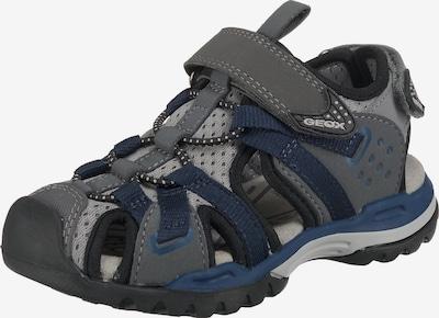 GEOX Sandale 'Borealiso Boy' in dunkelblau / grau / dunkelgrau, Produktansicht