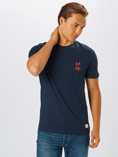 JACK & JONES Tričko - námořnická modř / oranžová: Pohled zepředu