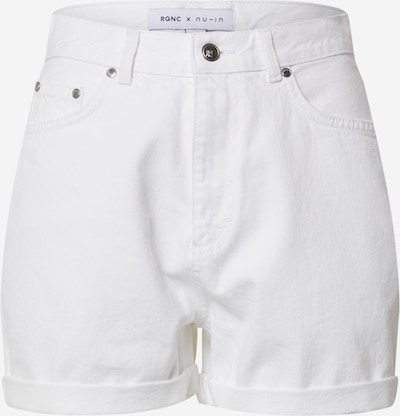 NU-IN Jeans 'Roll Up Denim Shorts' in de kleur Wit, Productweergave