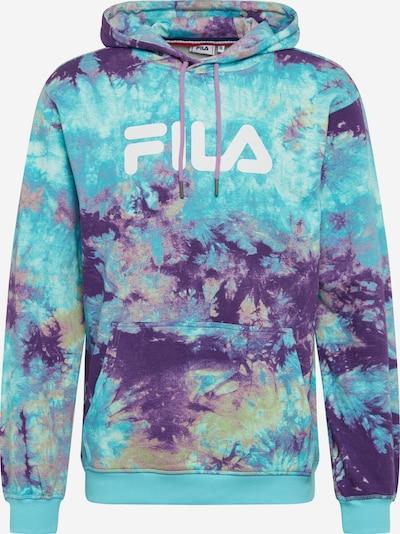FILA Sweatshirt 'Pure AOP' in türkis / braun / dunkellila / weiß, Produktansicht