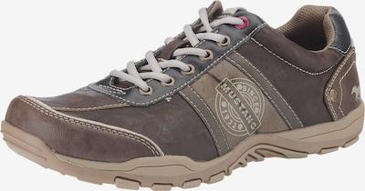 MUSTANG Sportske cipele na vezanje u smeđa / svijetlosmeđa / bijela, Pregled proizvoda