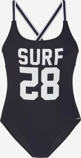CHIEMSEE Badeanzug in schwarz / weiß, Produktansicht