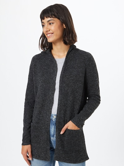 VERO MODA Knit cardigan 'Doofy' in grey / black, View model