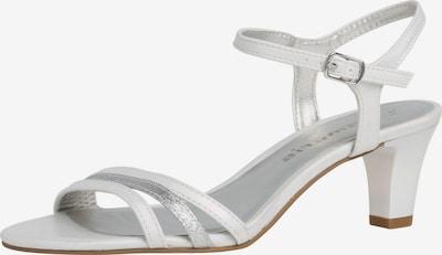 TAMARIS Sandali | srebrna / bela barva, Prikaz izdelka