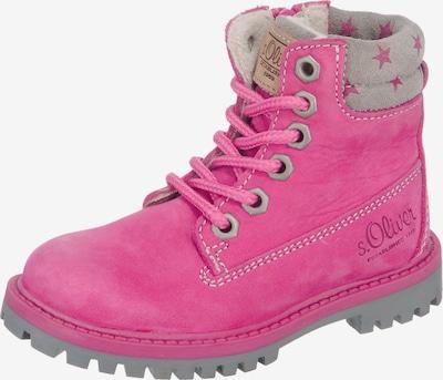 s.Oliver Junior Winterstiefel in grau / pink: Frontalansicht