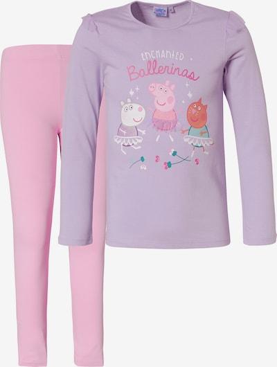 Peppa Pig Schlafanzug in lila / helllila, Produktansicht