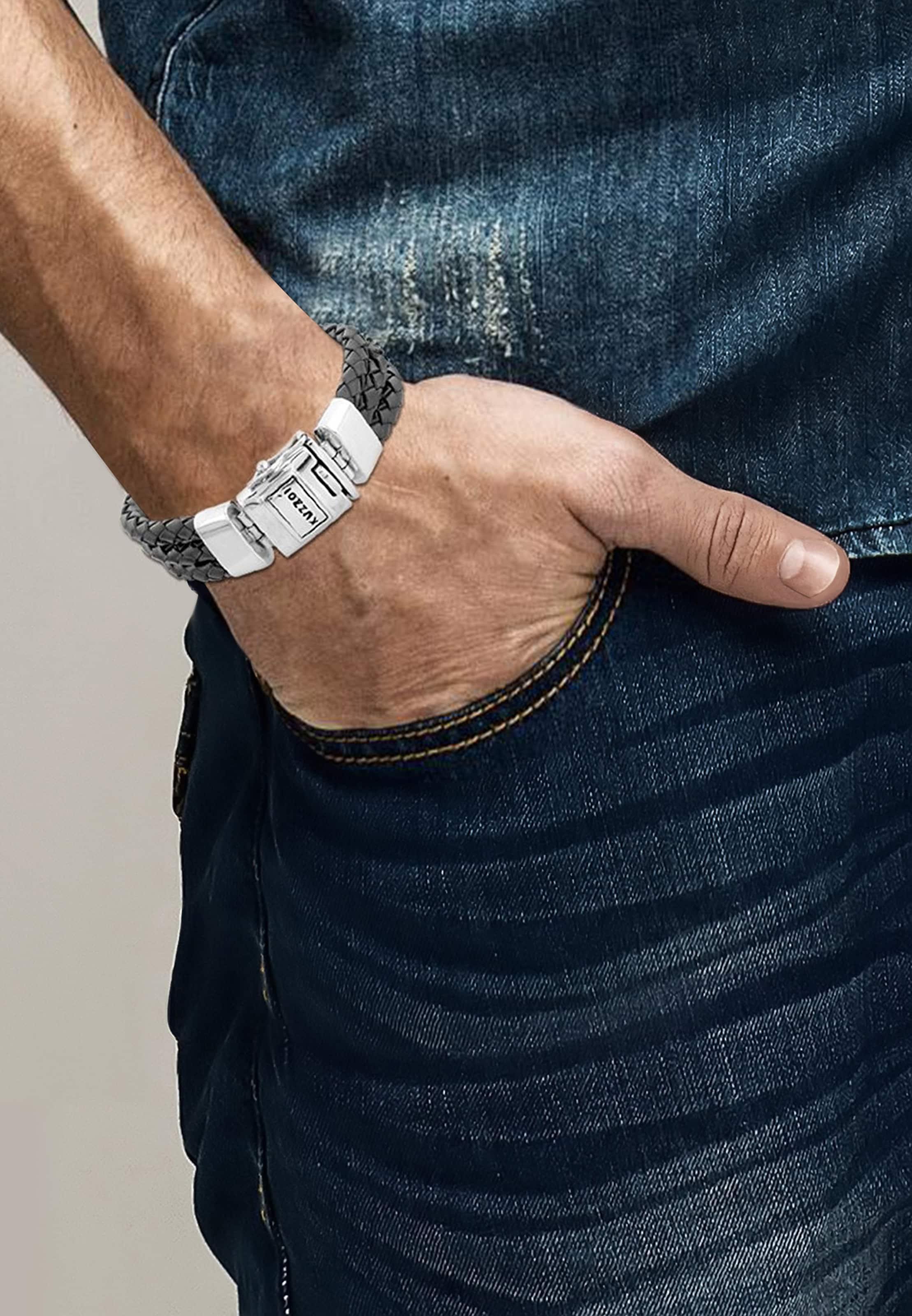 Kuzzoi In Kuzzoi Armband SchwarzSilber Armband Armband In Kuzzoi SchwarzSilber 8O0wmnvN