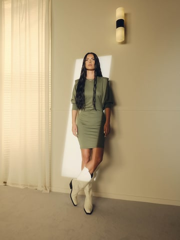 Khaki Dress Look by ABOUT YOU x INNA
