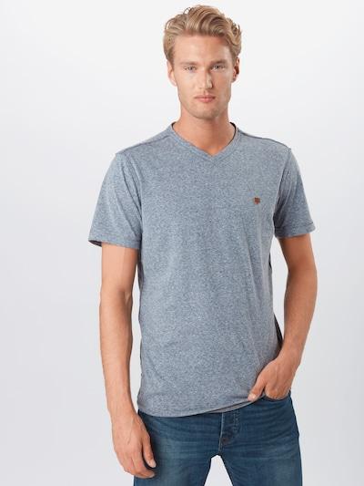 JACK & JONES Majica 'FRANKIE' | dimno modra barva: Frontalni pogled