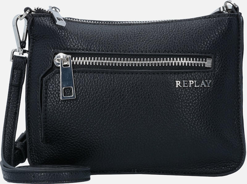 REPLAY Mini Bag Umhängetasche Leder 20 cm