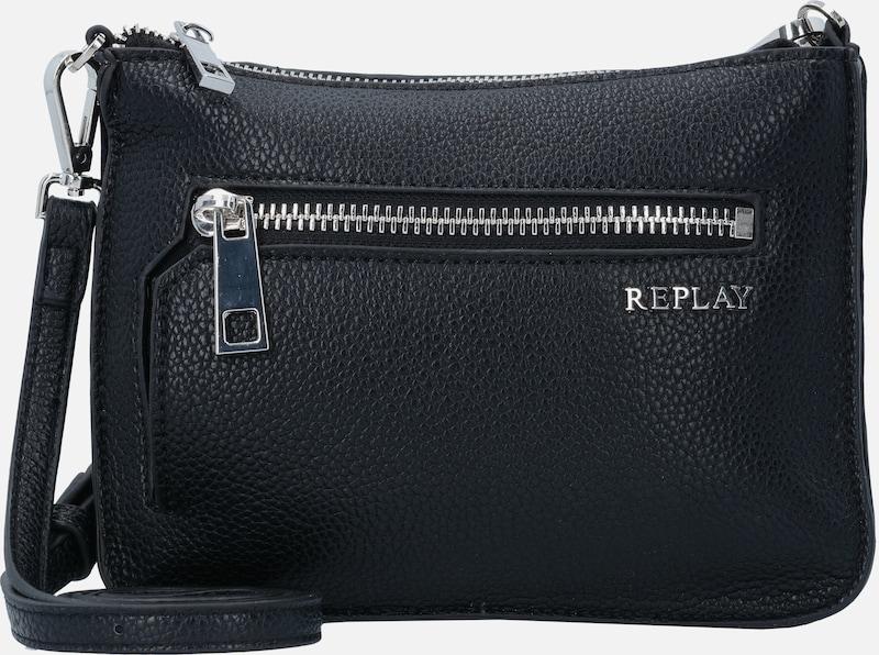 REPLAY Mini Bag Umhängetasche Leder 20 cm