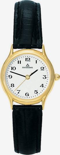 DUGENA Uhr in gold / schwarz, Produktansicht