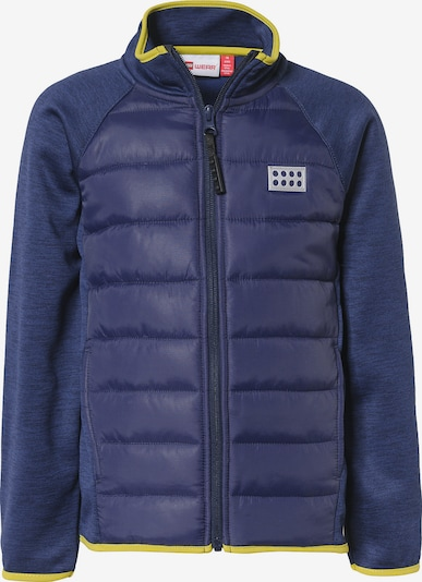 LEGO WEAR Fleecejacke in navy / goldgelb: Frontalansicht