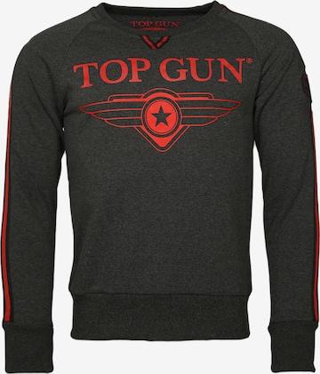 TOP GUN Sweater 'Streak' in Grau