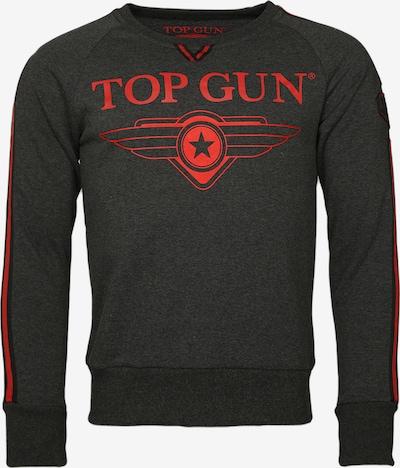 TOP GUN Sweater 'Streak' in anthrazit / rot / schwarzmeliert, Produktansicht