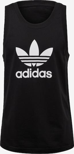 ADIDAS ORIGINALS Shirt 'Trefoil' in de kleur Zwart / Wit, Productweergave