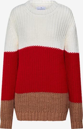 ROCKAMORA Pullover 'BENVINDA' in rot / weiß, Produktansicht